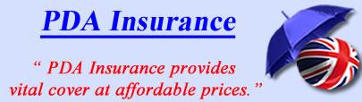 Logo of PDA business insurance UK, PDA pharmacy insurance quotes, PDA Pharmacist Cover UK