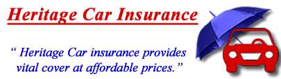 Image of Heritage classic car insurance logo, Heritage insurance quotes, Heritage vintage car insurance