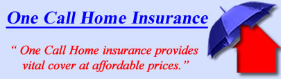 Logo of One Call Home Insurance, One Call UK Logo, One Call Buildings and House Insurance Logo