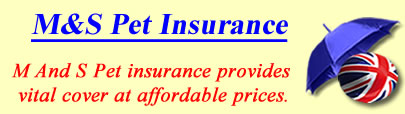 Logo of M and S Pet insurance UK, M and S pet insurance quotes, M and S pet cover UK