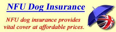 Logo of NFU Dog insurance UK, NFU dog insurance quotes, NFU dog cover UK