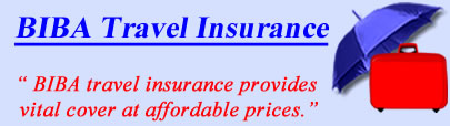 Logo of BIBA travel insurance UK, BIBA holiday insurance quotes, BIBA Travel Cover UK