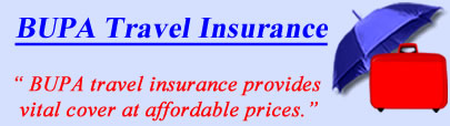 Logo of BUPA travel insurance UK, BUPA holiday insurance quotes, BUPA Travel Cover UK