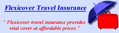 Logo of Flexicover travel insurance UK, Flexicover holiday insurance quotes, Flexicover Travel Cover UK