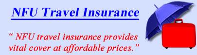 Logo of NFU travel insurance UK, NFU holiday insurance quotes, NFU Travel Cover UK