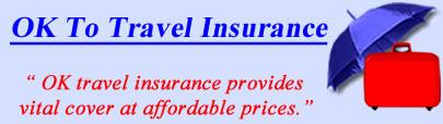 Logo of OK travel insurance UK, OK holiday insurance quotes, OK Travel Cover UK