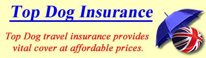 Logo of Top Dog travel insurance UK, Top Dog holiday insurance quotes, Top Dog Travel Cover UK